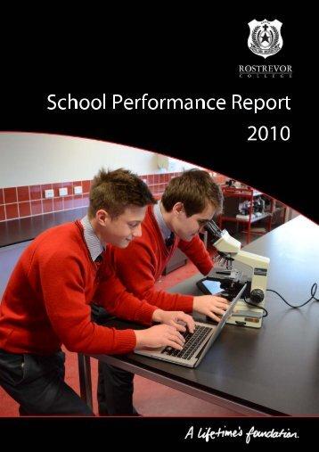 School Performance Report 2010.pdf - Rostrevor College