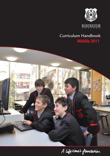 Curriculum Handbook Curriculum Handbook - Rostrevor College