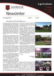 11th August 2011 No. 22 Vol 39 - Rostrevor College