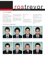 Scholastic Highlights 2010 - Rostrevor College