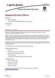 Student Services Officer - Rostrevor College
