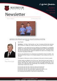 Dear Parents Valedictory - On Friday, 16th ... - Rostrevor College