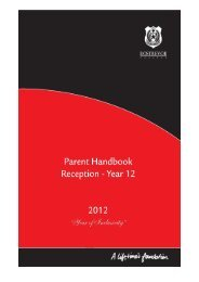 rostrevor college parent handbook 2012