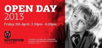 open DAY - Rostrevor College