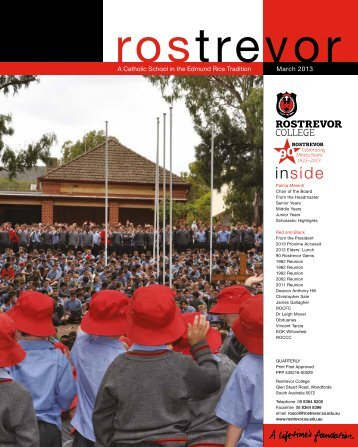 37 Newsletter March 2013.pdf - Rostrevor College
