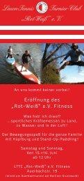 "Eröffnung des ""Rot-Weiß"" e.V. Fitness - LTTC"