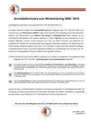 Anmeldeformular und Informationen downloaden - LTTC