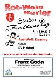 2013.10.18 RW-Kurier Ausgabe 06 - Rot Weiss Damme