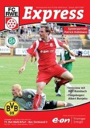 Interview mit Rolf Rombach • Fragebogen - FC Rot-Weiss Erfurt e.V.