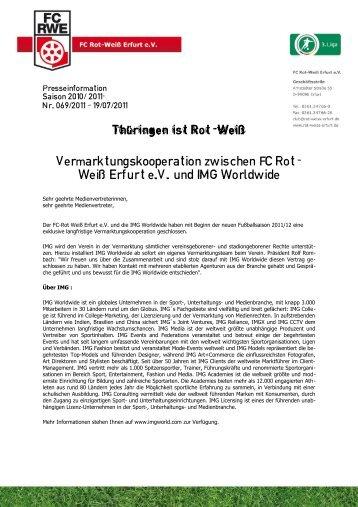 Weiß Erfurt eV und IMG Worldwide - FC Rot-Weiss Erfurt e.V.
