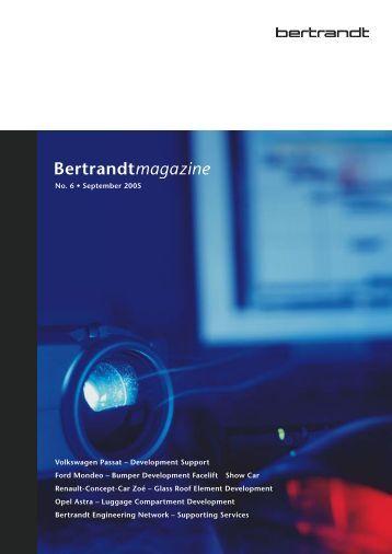 No. 6 • September 2005 Volkswagen Passat ... - Bertrandt