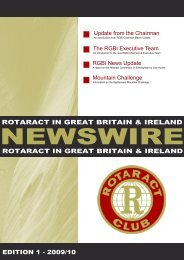 August 2009 - Rotaract in Great Britain & Ireland