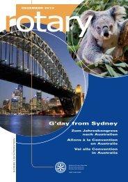 Téléchargement de la revue actuelle (pdf) - Rotary Schweiz