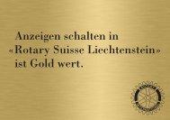 Anzeigen schalten in «Rotary Suisse Liechtenstein ... - Rotary Schweiz