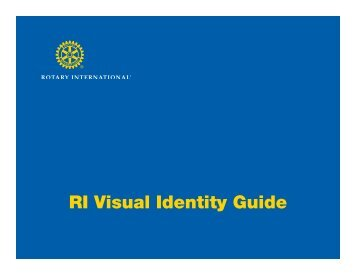 RI Visual Identity Guide - Rotary International