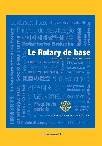 Le Rotary de base (f)