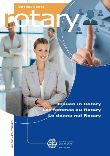 Frauen in Rotary Les femmes au Rotary Le donne ... - Rotary Schweiz