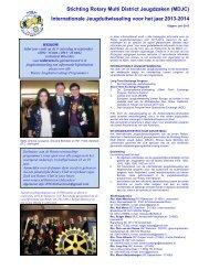 Internationale Jeugduitwisseling voor het jaar ... - Rotary Nederland