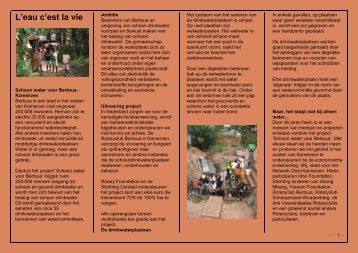 Voortgangsbericht 2011 - Rotary Nederland