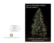 Folder Kerstlichtjes voor Water 2011