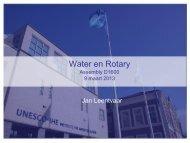 Water en Rotary - Rotary Nederland