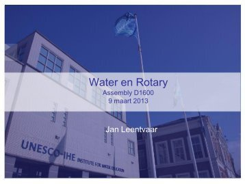 Water en Rotary - Rotary Nederland