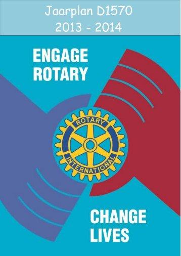 Jaarplan D1570 2013 2014 - Rotary Nederland