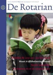 President RI 2010-2011 aan het woord Maart is ... - Rotary Nederland