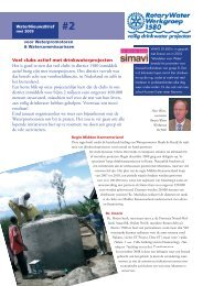 Water Nieuwsbrief mei 2009 - Rotary Nederland