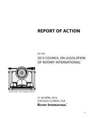 2013 Report of Action - Rotary International