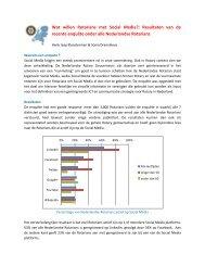 Resultaten Enquete Social Media - Rotary Nederland
