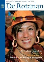 Sandalen, water, honing en microkrediet - Rotary Nederland