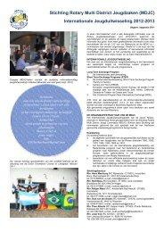 Internationale Jeugduitwisseling 2012-2013 - Rotary Nederland