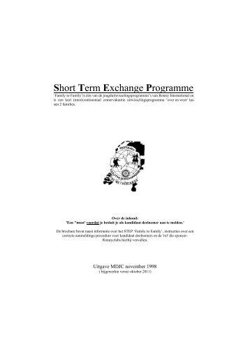 Handleiding Short Term Exchange Program - Rotary Nederland