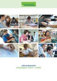 Jahresbericht Arbeitsjahr 2007 / 2008 - Kantonale Schule  für ...
