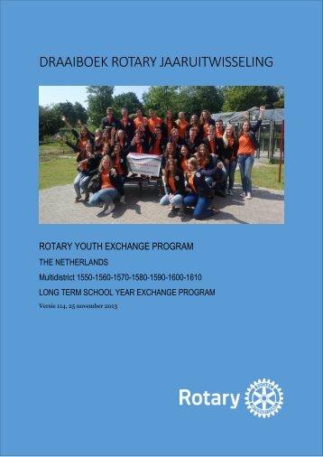 Draaiboek ontvangst Jaarkind - Rotary Nederland