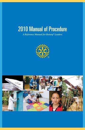 2010 Manual of Procedure - Rotary International
