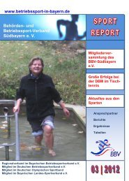 Sport Report 3 / 2012 - Betriebssport in Bayern