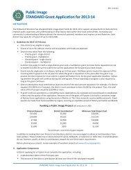 Immagine Pubblica Domanda di sovvenzione 2013-2014 STANDARD