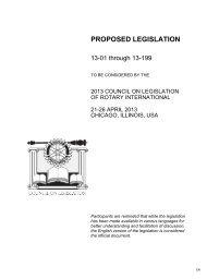 2013 Proposed Legislation - Rotary International
