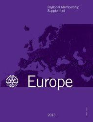 Effettivo regionale — Supplemento 2013 - Rotary International