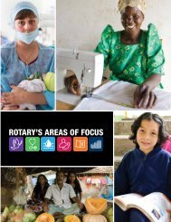 Áreas de interés de rotary - Rotary International