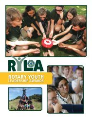 RYLA — Prêmios Rotários de Liderança Juvenil - Rotary International