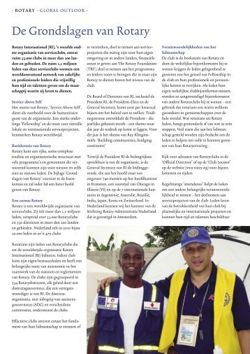 De grondslagen van Rotary - Rotary Nederland