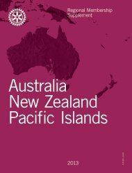Australia, New Zealand, and Pacific Islands - Rotary International
