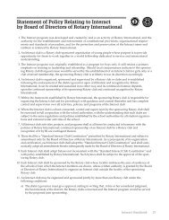 Statement of Policy Relating to Interact - Rotary International