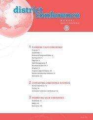 La conférence de district [800-FR] - Rotary International