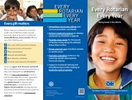 Ogni Rotariano, Ogni Anno - Rotary International