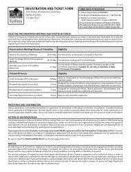 등록 신청서 및 티켓 주문서 - Rotary International