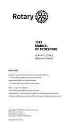2010年 手続要覧 - Rotary International